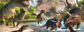 Доисторические ящеры динозавры.